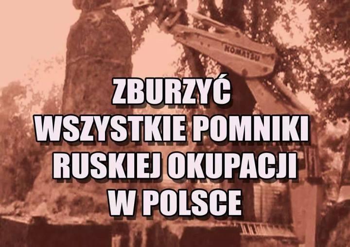 zburzyc pomniki rosyjskiego okupanta