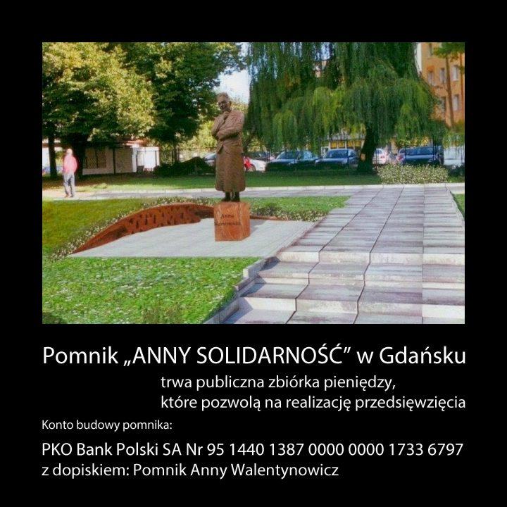 Pomnik ANNY SOLIDARNOSC w Gdansku