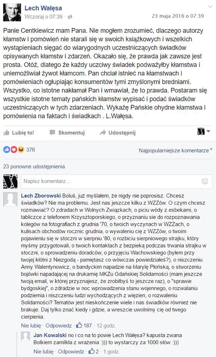 Bolek Leszek Centkiewicz  23.05.2016